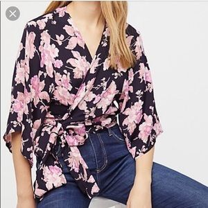 Free People Garden State wrap top